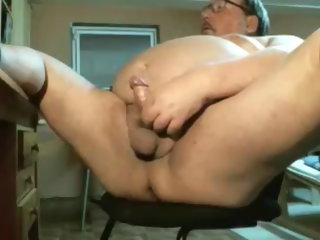cum grandpa cum on the top of webcam grandpa