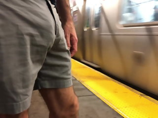 jerks hot unfearing jerks off in be passed on subway macho